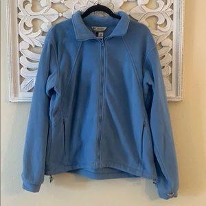 Columbia Light Blue Vertex Core Fleece Jacket